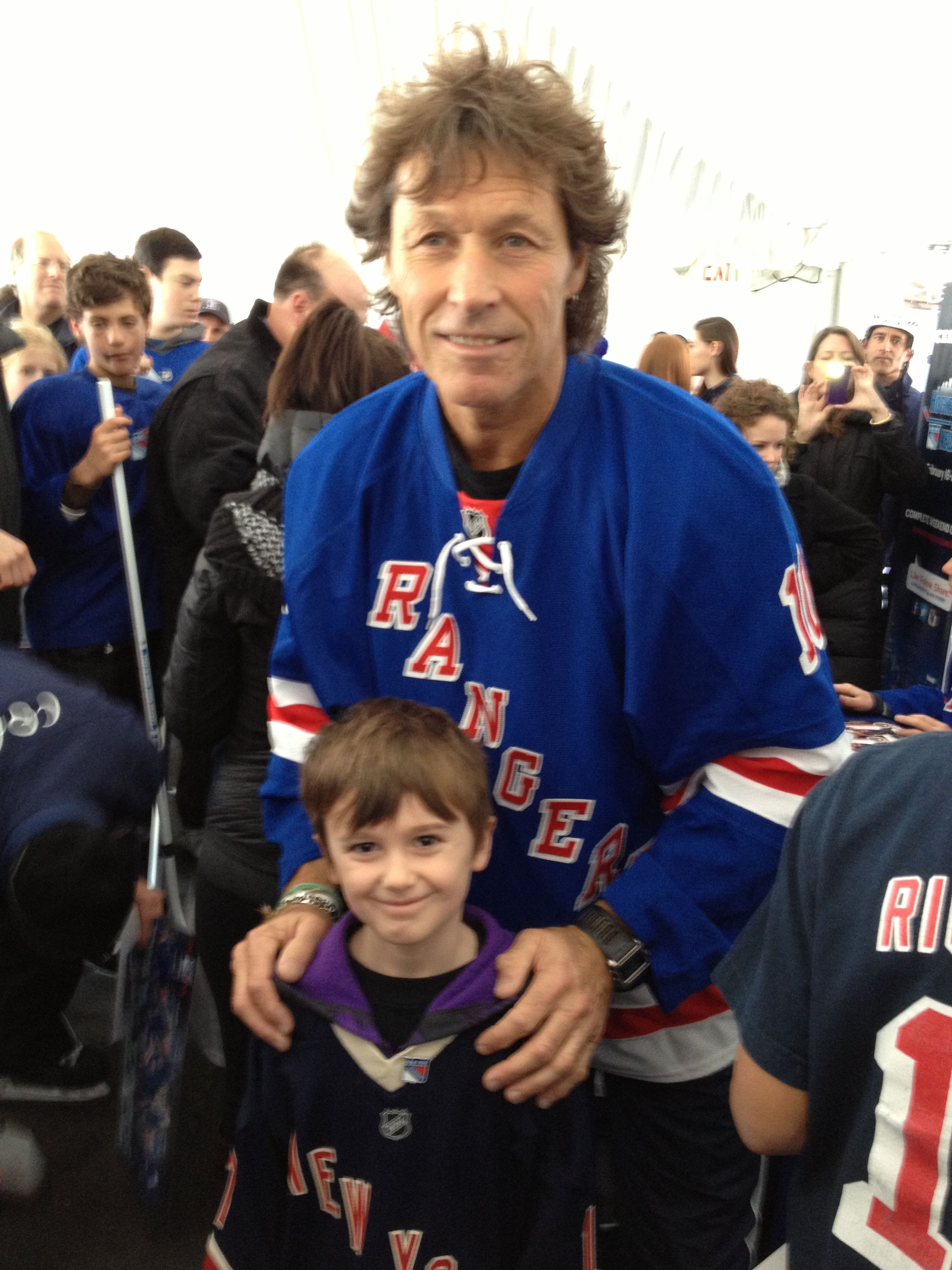 new style 36fcd 664fd w/ a young Rangers fan. Keegan with Ron Duguay | Ron Duguay ...