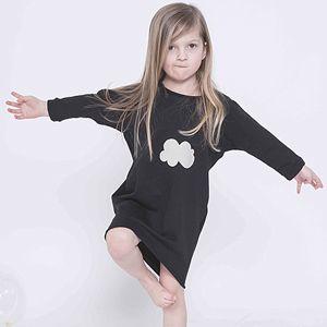 Kids on the Moon - Cloudres dress (black/sand)