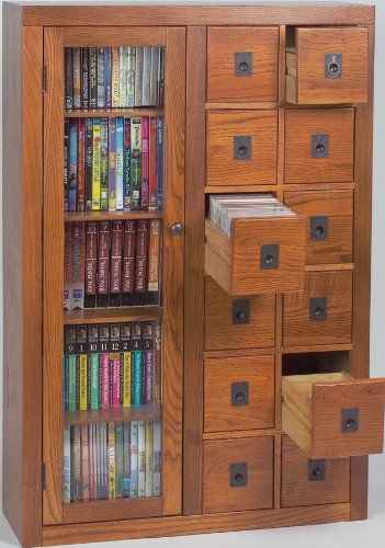 Attractive Leslie Dame GL06 0518 Retro Design, Librarian Card File Media Cabinet, With