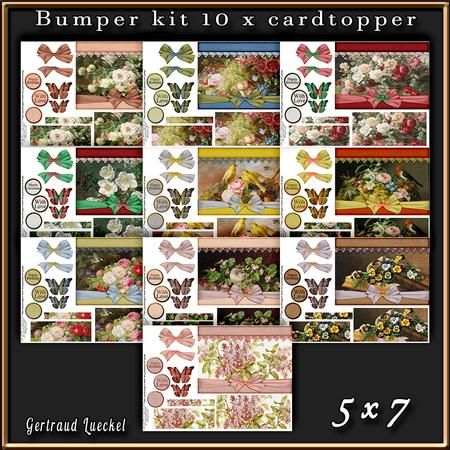 10 x Flowers and Bows cardtopper Bumper Kit 1 on Craftsuprint - View Now!