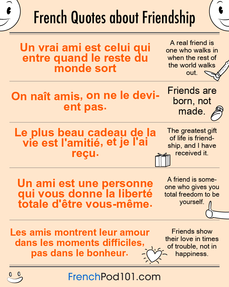 Frenchpod101 On Twitter French Quotes About Friendship Friendship Quotes French Quotes