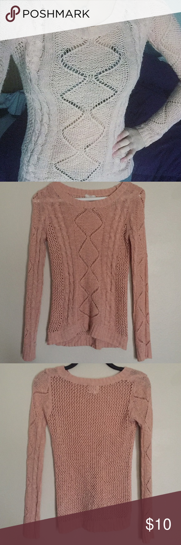 Nude/Pink Knit Sweater   Knit sweaters, 1 day sale and 1 day