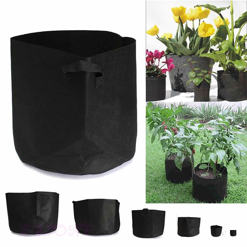 Round Fabric Grow Pots Plant Pouch Root Container Bag Aeration Container 9 SIZE