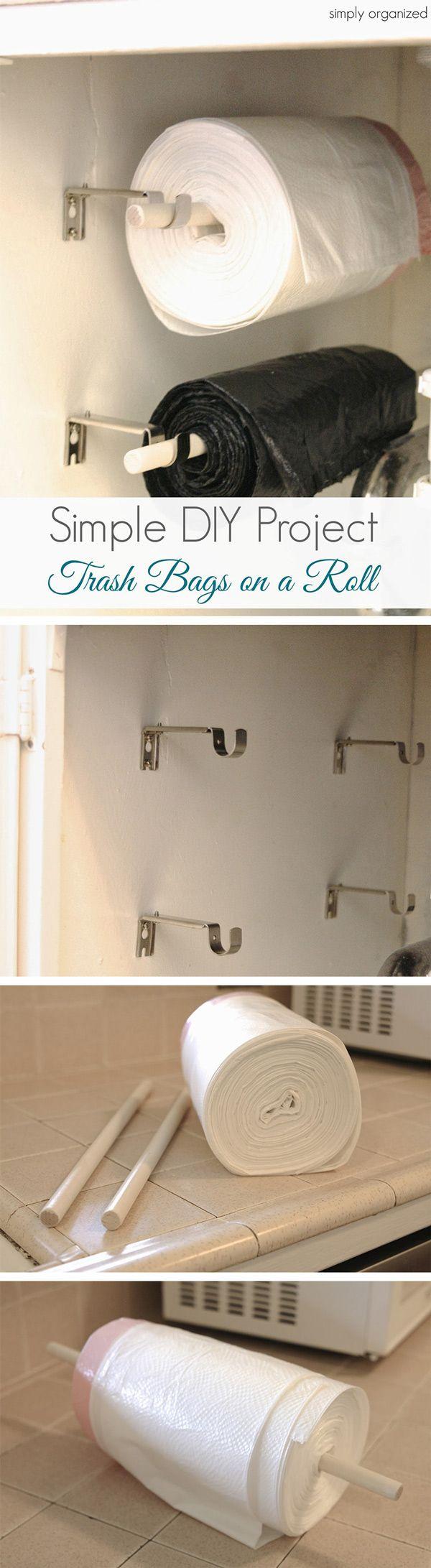 Küchenideen, um platz zu sparen auch als halterung für vorhang unterm waschbecken  bucatarie