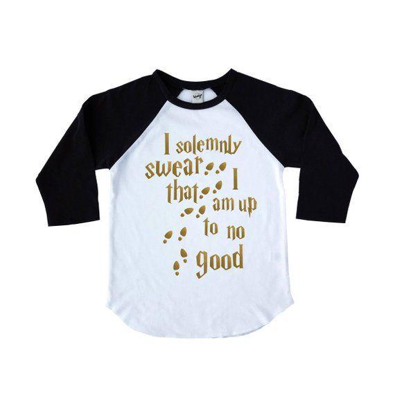 cada4a7c9e I Solemnly Swear That I Am Up to No Good Kids Shirt - Mischief Managed -  Kids Raglan - Gift for Kids