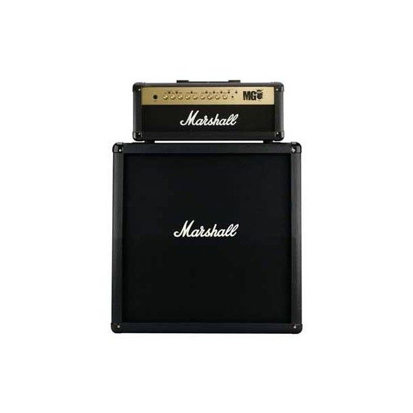 Marshall MG100HFX Angled Half Stack at AmericanMusical.com (2.340 BRL) ❤ liked on Polyvore featuring fillers, accessories, extra, items and other