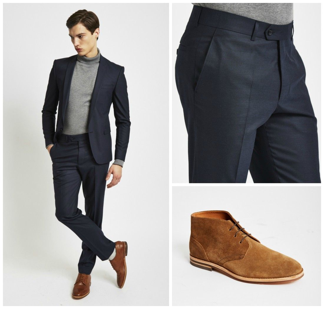 dark blue suit with loafers - Google Search | Mens Fashion ...