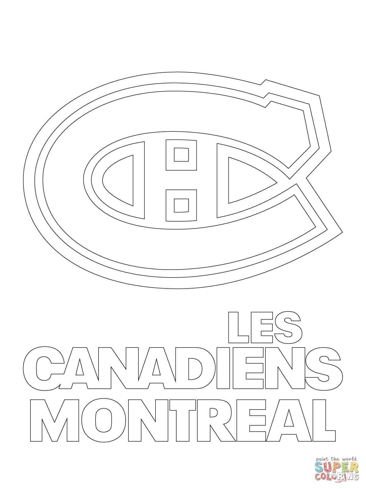 montreal canadiens logo super coloring