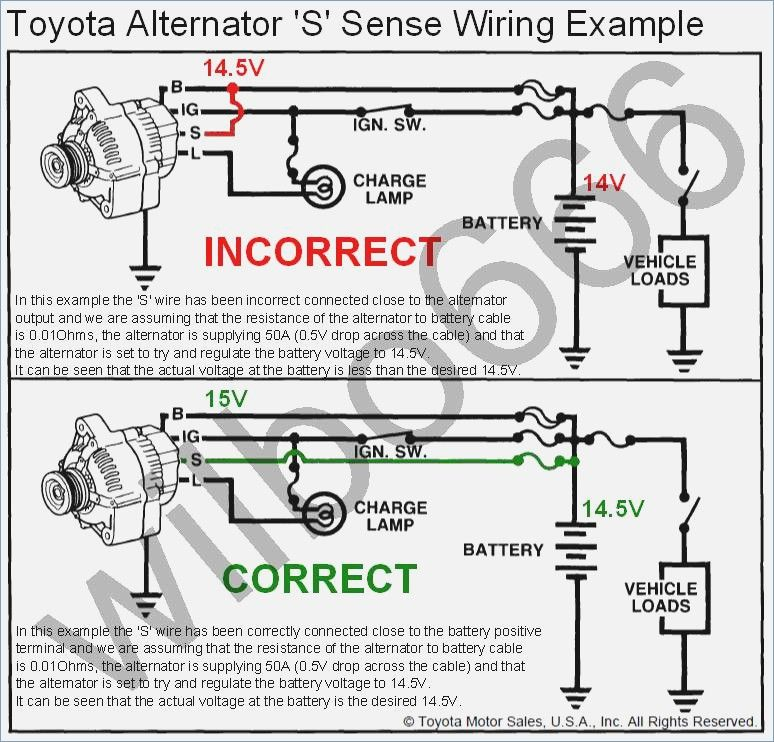 Wiring Diagram Toyota Alternator S Sense Wire Example Denso Alternator Denso Alternator Electrical Circuit Diagram