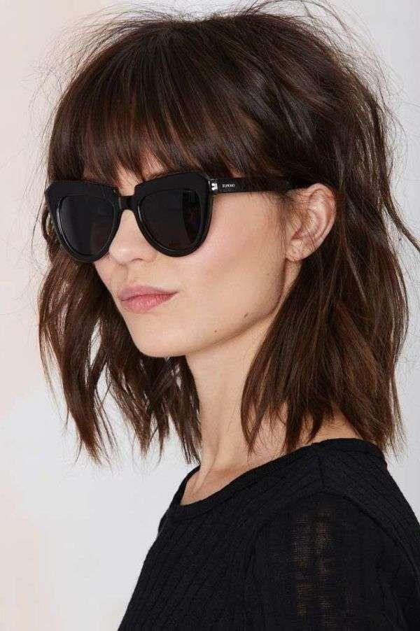 Tagli capelli carre' con frangia