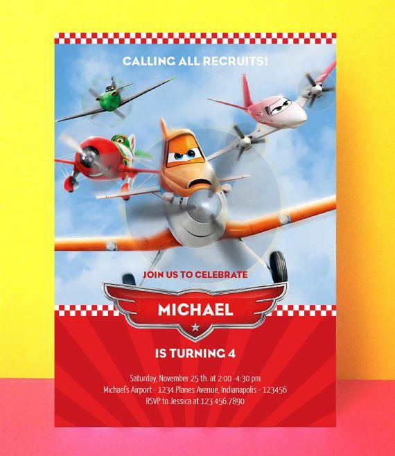 Disney Planes Invitation Editable Pdf Instant Download Printable