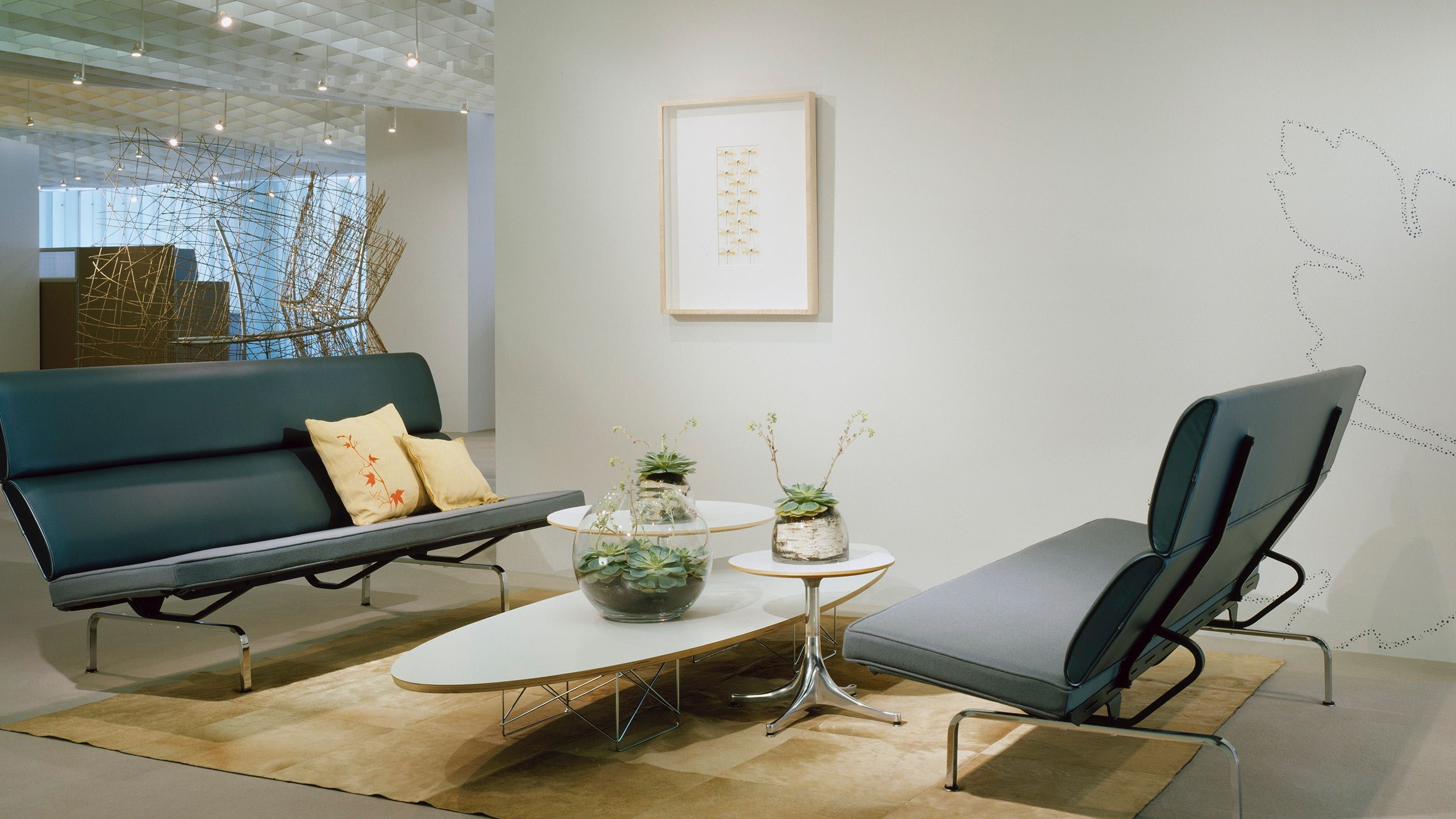 The Surfboard Table An Eames Wire Base Elliptical Table