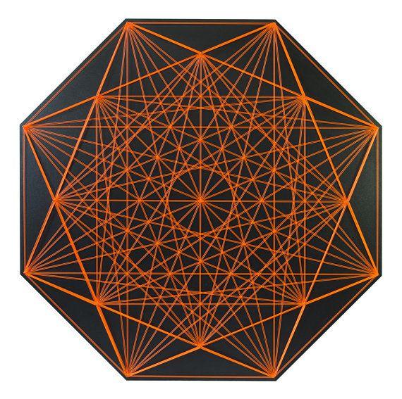 dc9fbdb55 CHRYSANTHEMUM string art sacred geometry zen lack 3D wall hanging wall art  home decor mandala spirit