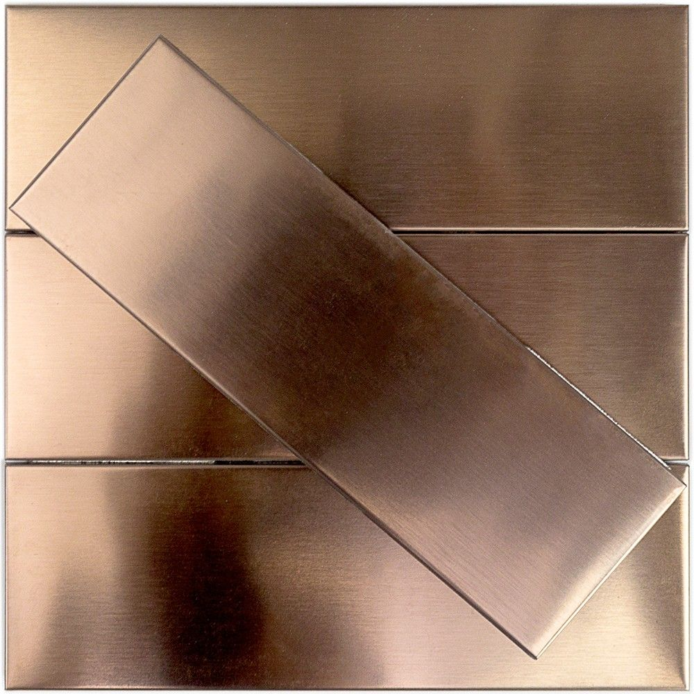 Metal Subway Tile 2x6 Stainless Steel