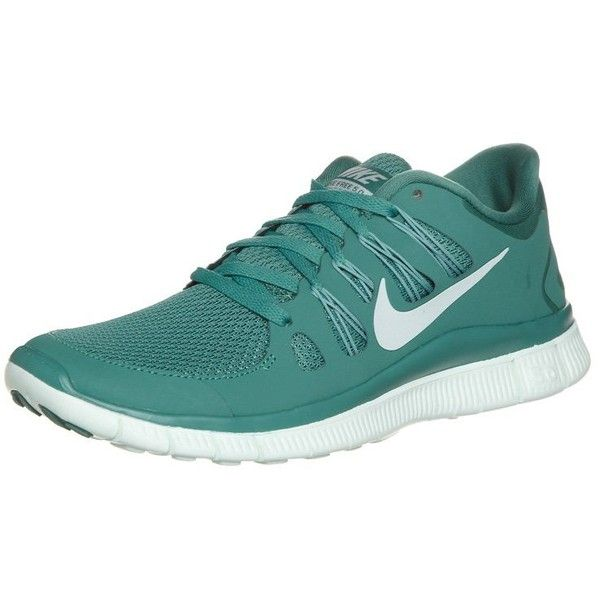 Nike Performance NIKE FREE 5.0+ Lightweight running shoes ($110) ❤ liked on Polyvore featuring shoes, athletic shoes, green, running shoes, sports running shoes, nike athletic shoes, sports shoes and green athletic shoes