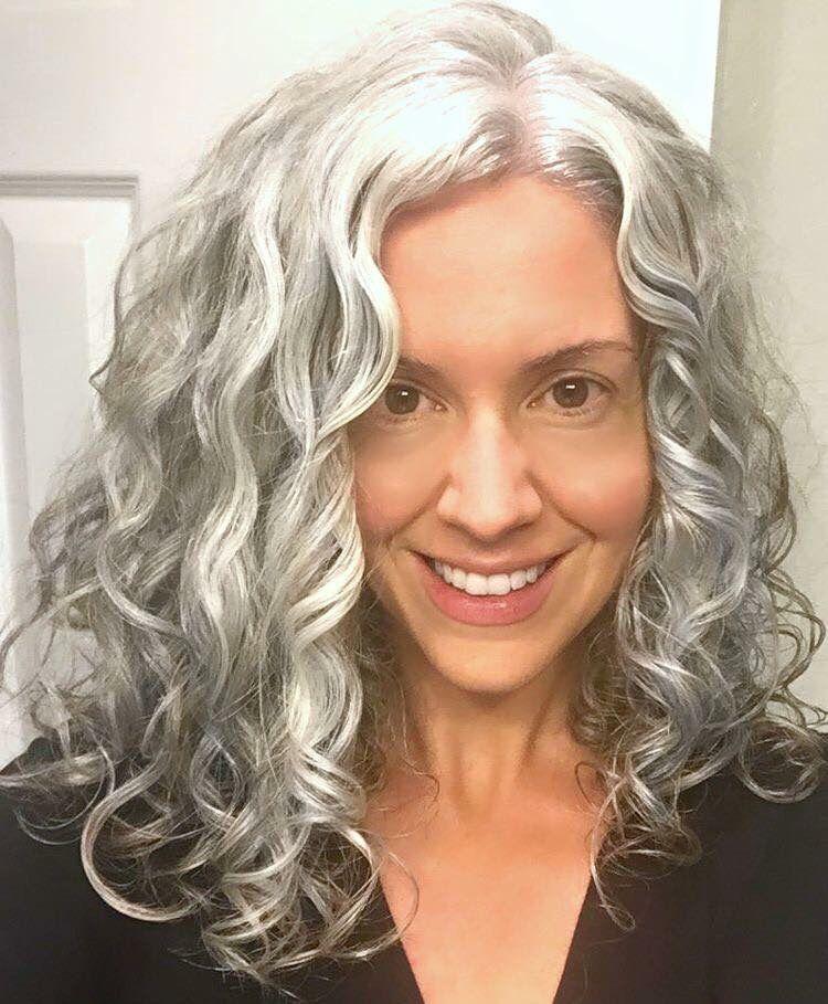Long Gray Hair Grey Hair Inspiration Long Gray Hair Grey Curly Hair