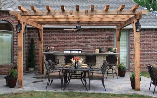 I like the lighting and ceiling fan this pergola has. Also the outdoor bar  is a nice addition. - I Like The Lighting And Ceiling Fan This Pergola Has. Also The