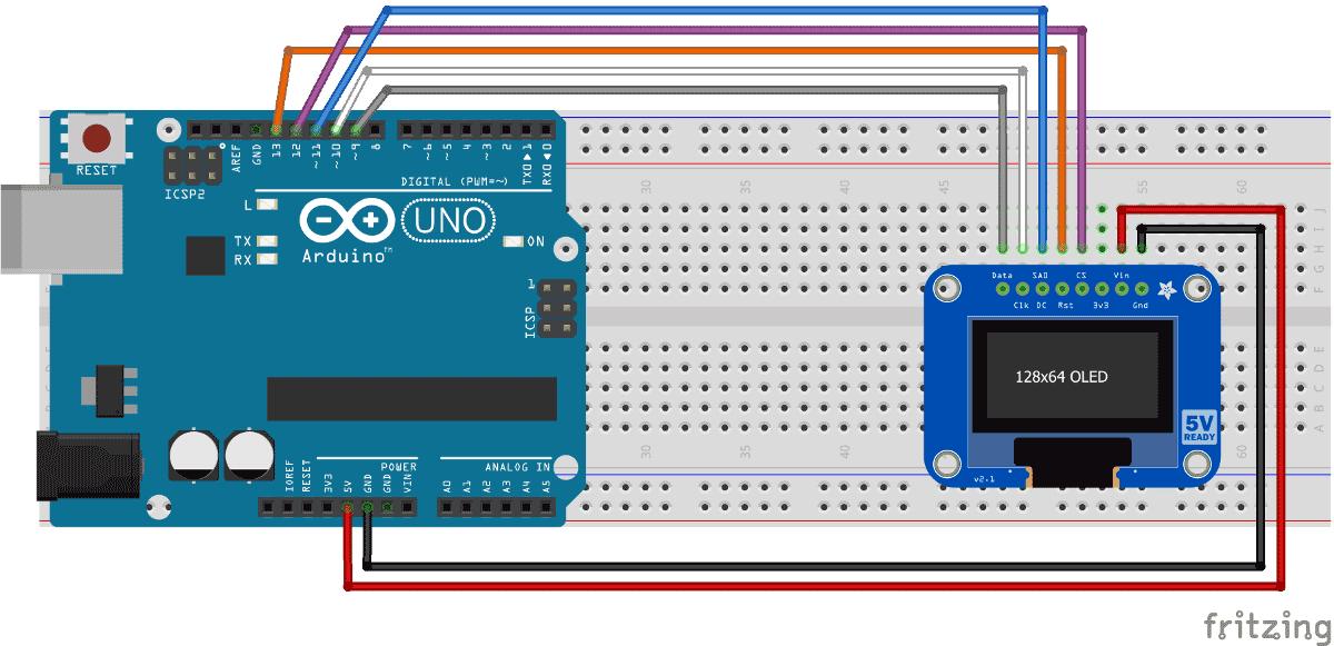 Arduino interfacing with Monochrome OLED display circuit | Arduino