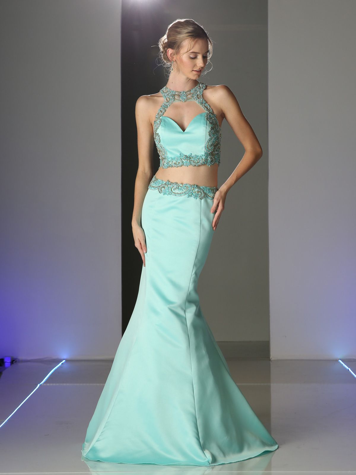 Two piece Trumpet Formal Dress | Sung Boutique L.A. | Prom Dress ...
