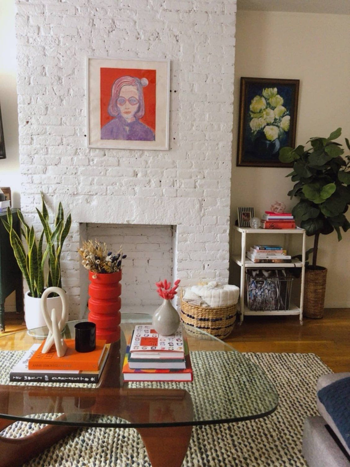 Photo of A Small NYC Rental's Living Room Was Totally Furnished with Thrifted or Found Pieces