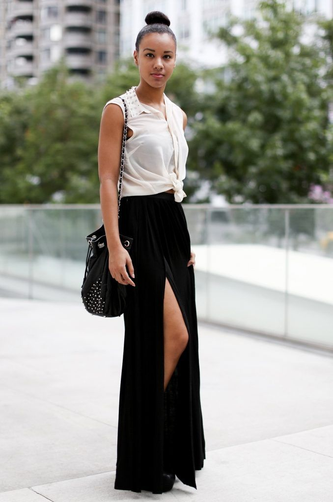 4df8c1502f1 How To Style A Maxi Skirt Fashiongum Black Maxi Skirt Outfits