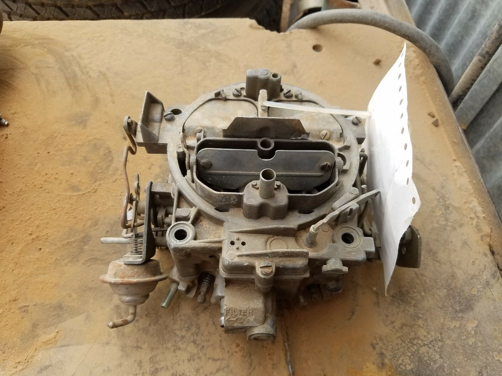 Up For Sale Is A Rebuild Able Carter Quadrajet Carburetor This