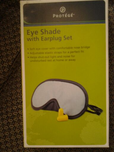 Protege Eye Shade with ear plug set block out stress
