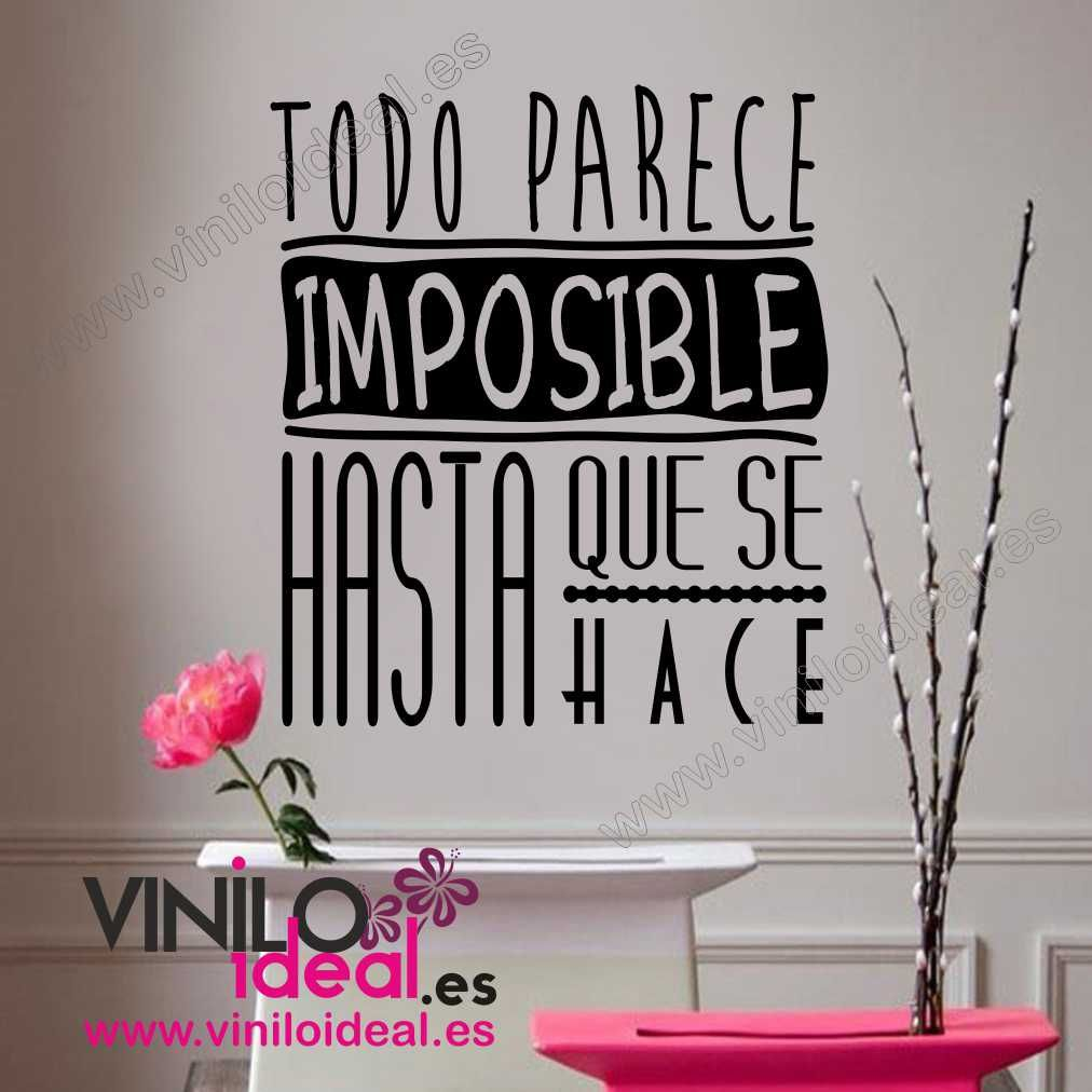 Vinilo decorativo frases en vinilo decoraci n de paredes for Vinilos decorativos pared