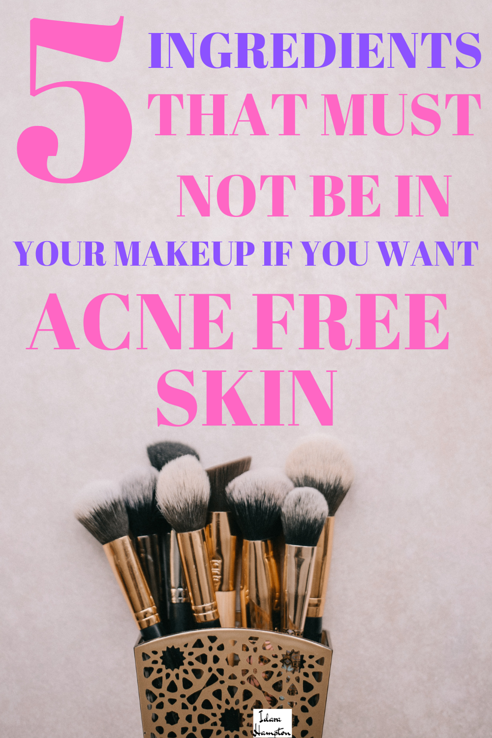 Wearing makeup the wrong kind of makeup can make acne