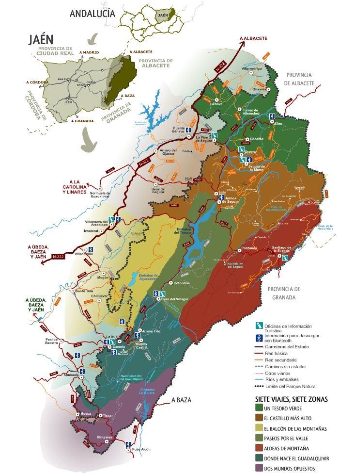 Sierra De Cazorla Y Segura Mapa.Parque Natural Sierras De Cazorla Segura Y Las Villas