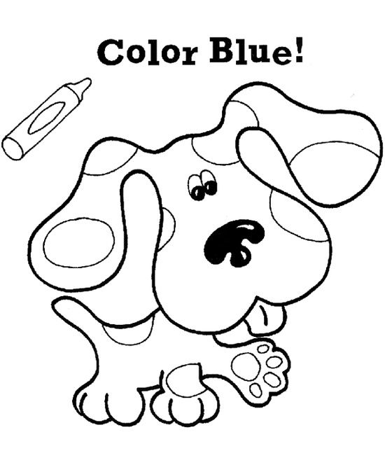 Pictures Cute Dog Blues Clues Coloring Pages Blues Clues Coloring Pages Kidsdrawing Free Coloring Pages Online