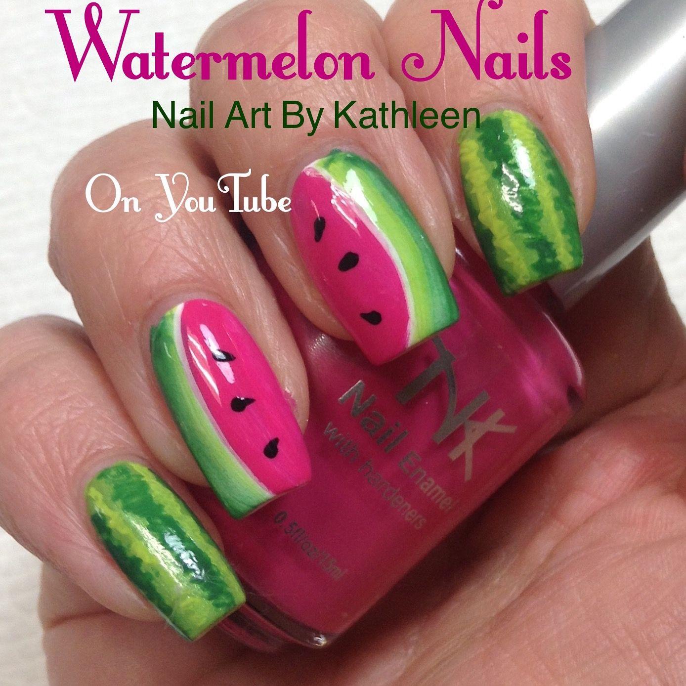 Watermelon Nails Easy Diy Summer Nail Art Nail Art Designs