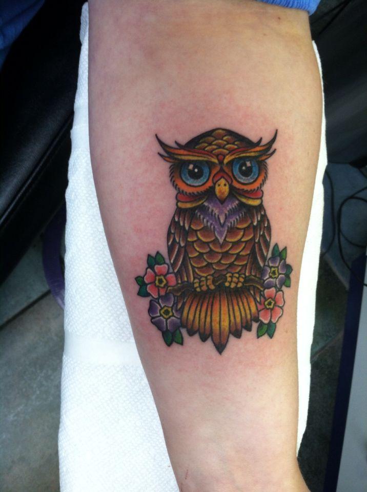Traditional Owl Tattoo Traditional Owl Tattoos Owl Tattoo Small Owl Tattoo Design