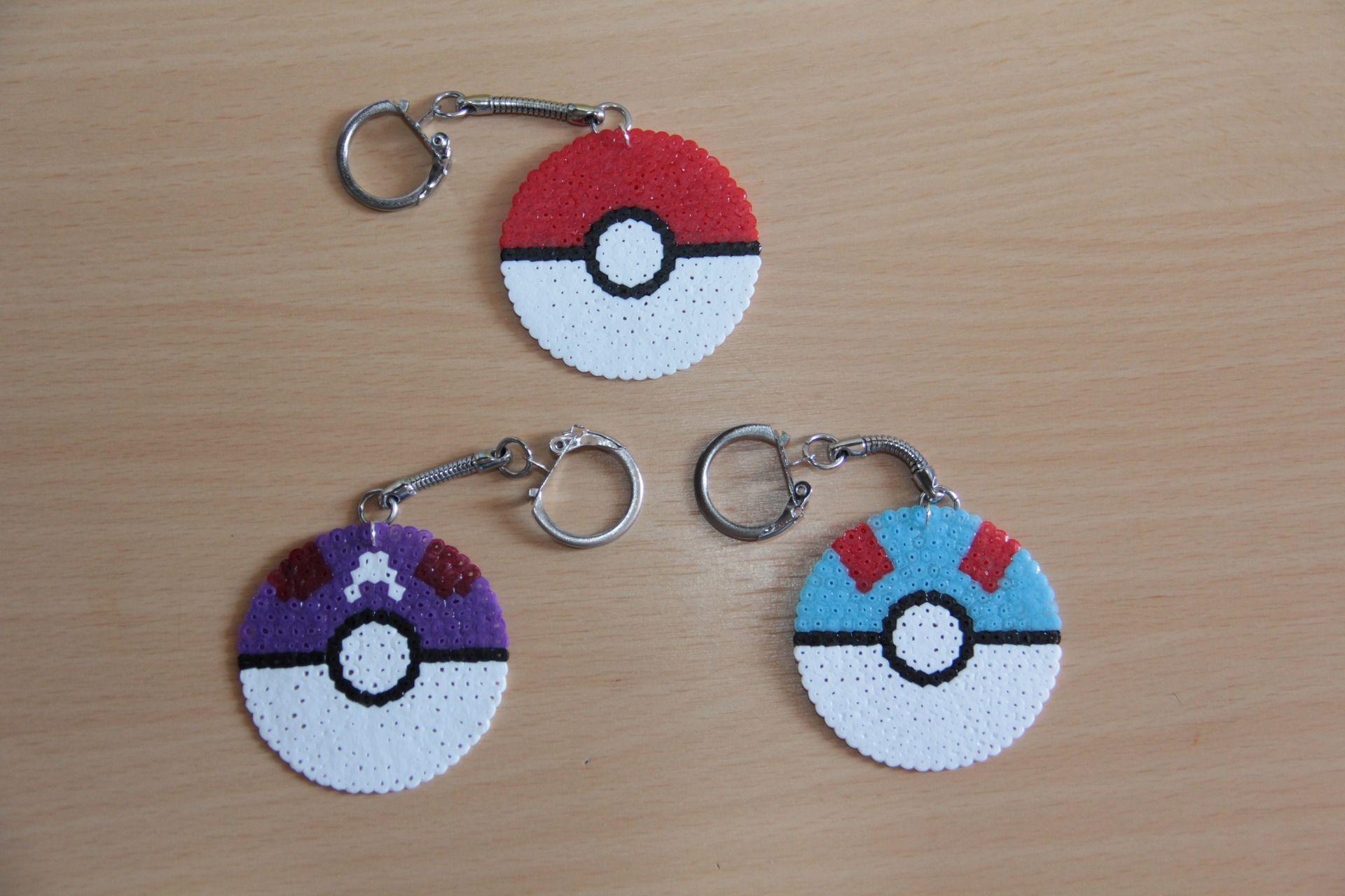 Porte clefs pokemon en perles hama porte cl s par fpmm atelier pinterest perles hama - Porte cle perle ...