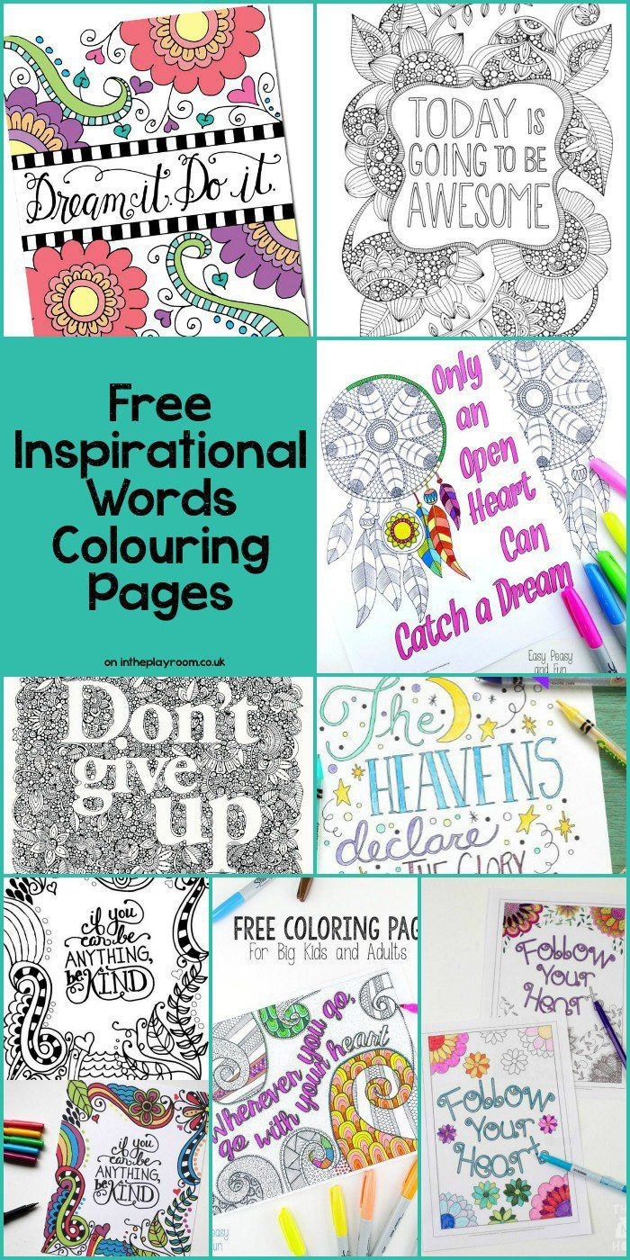 Free motivational quote coloring pages - 15 Free Grown Up Colouring Pages With Inspirational Words And Quotes