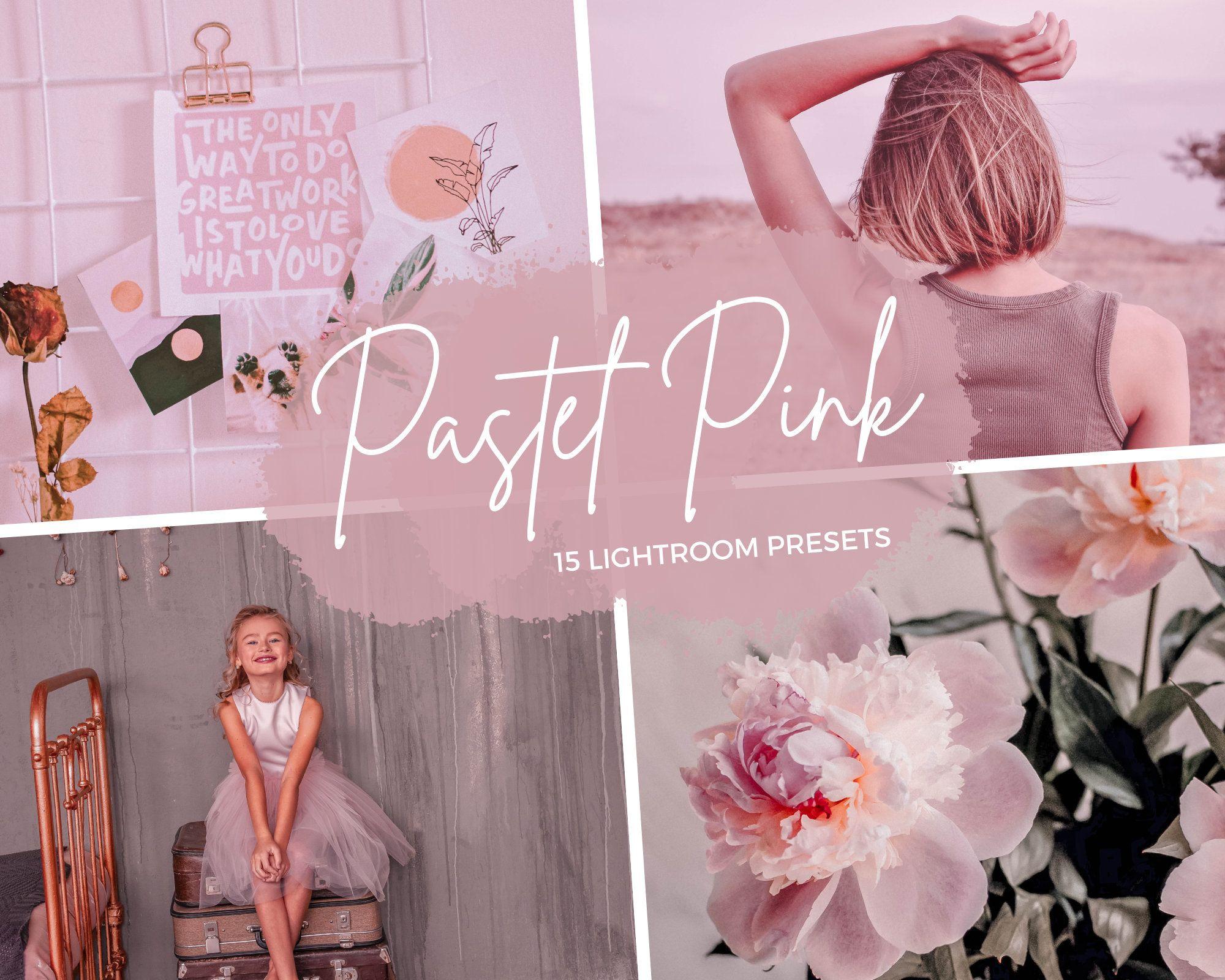 15 Pastel Pink lightroom preset DNG XMP Mobile/desktop ...