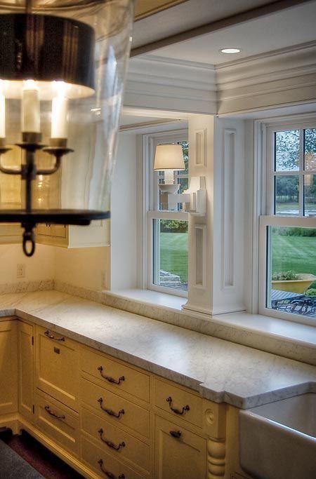 I Like Deep Window Sills At Kitchen Sinks Kitchen Sink Window Trendy Kitchen Tile Kitchen Window