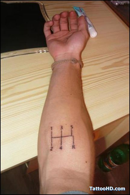 e5d7de5472813 car tattoo stickers - hahaha 5speed tattoo   tattoos   Car tattoos ...