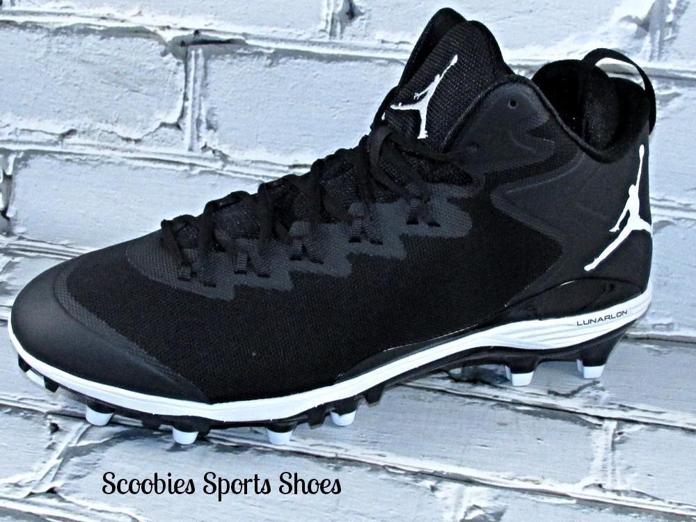 9db6a6d195428c Mens Nike Lunar Jordan SuperFly 3 TD Football Cleats Size 14 Black  Nike