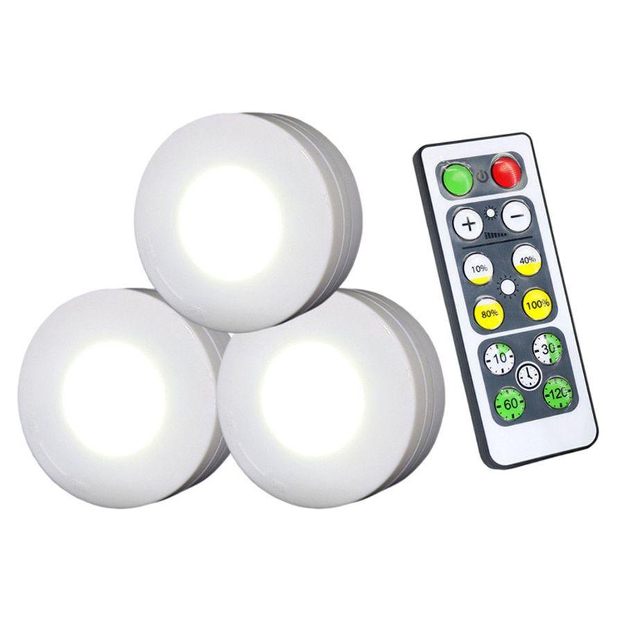 Dimmable Touch Sensor Under Cabinet Light Led Puck Lights Wireless Dow Led Puck Lights Puck Lights Led Lights