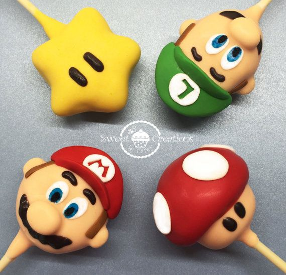 Super Mario Bros Luifi Inspired Cake Pops By Sweetcreationbycarey