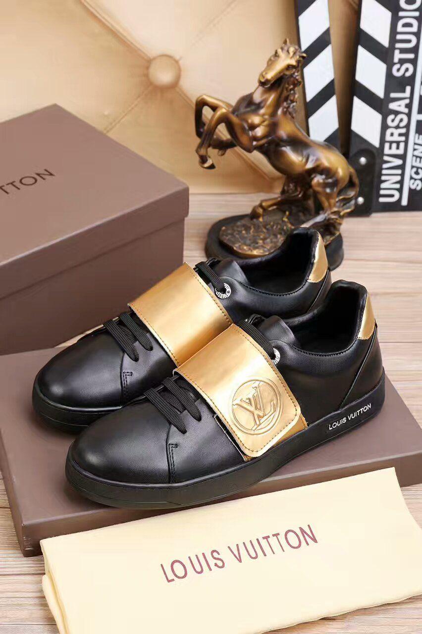 Buty Louis Vuitton Sportowe Czarne Zlote Luksusowy Butik Znane Marki Do 80 Taniej