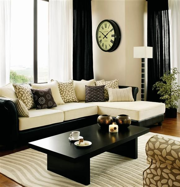 Really dig the black, white and brown Future Home Ideas