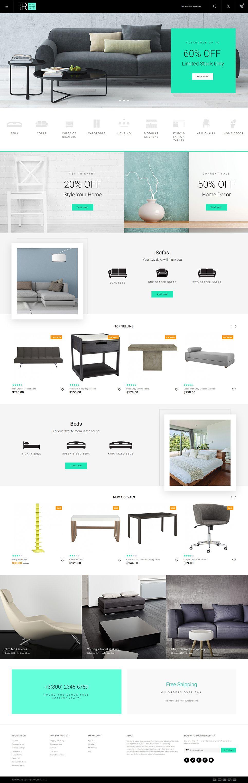 reflego furniture home decor magento theme magento themes