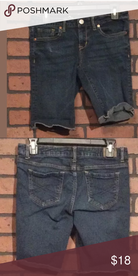 ab855a7549 Aeropastle Jean Shorts 6 Cotton Blend Bermuda Aeropastle Jean Shorts 6  Cotton Blend Bermuda Above Knee Dark Wash Women CO83 Waist 30