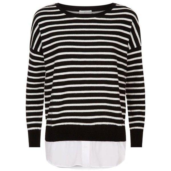Joie Luus Stripe Jumper ($360) ❤ liked on Polyvore featuring tops, sweaters, jumper top, jumpers sweaters, stripe sweater, joie sweater and layered sweater
