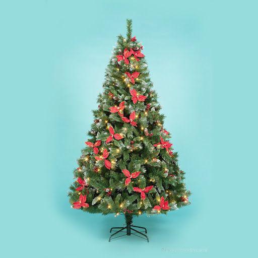 1.5m Prelit Poinsettia Tree