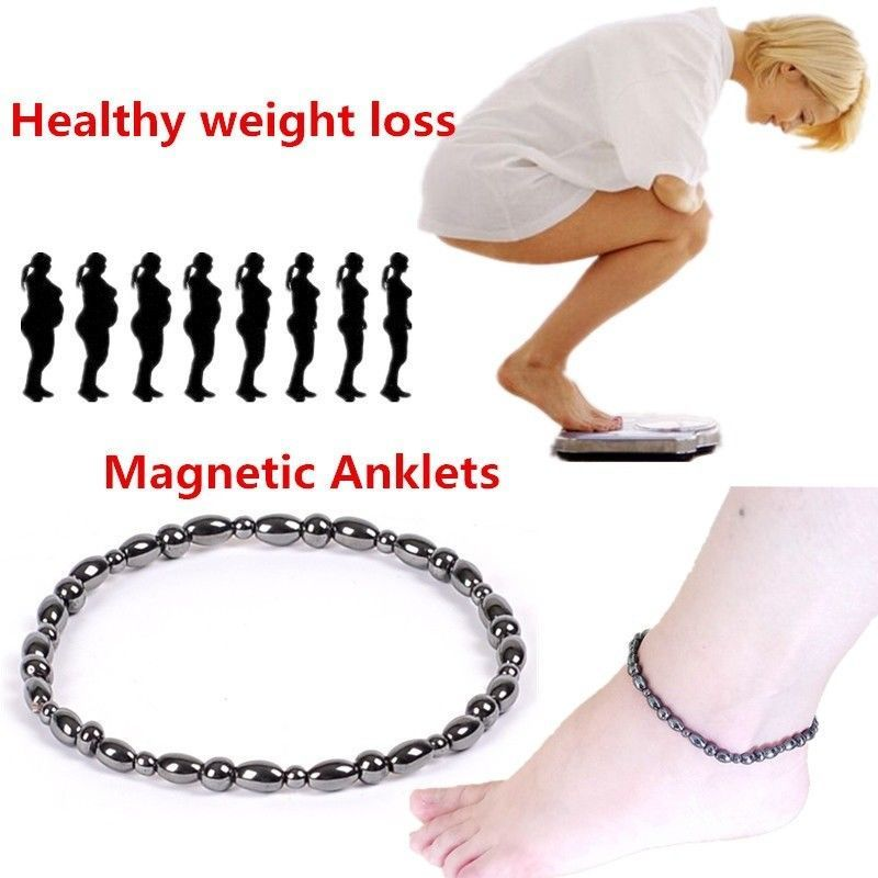 Hot Sale Weight Loss Magnet Anklet Colorful Stone Magnetic Therapy Bracelet Anklet Weight Loss Product Slimming Health Care Jewelry Color: A