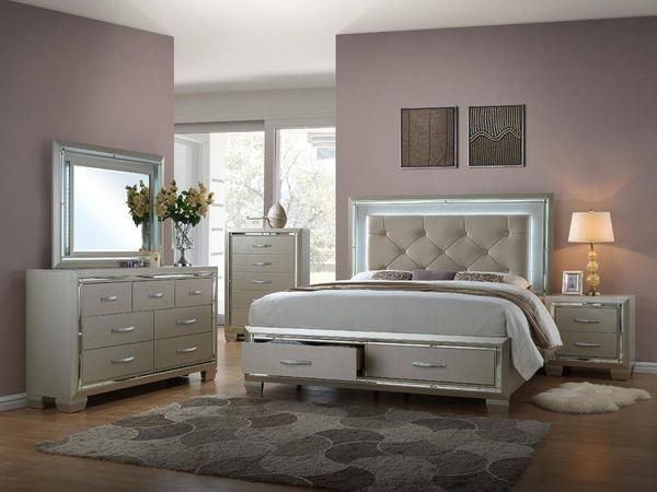 Titanium Queen Storage Bedroom Set Bedroom Furniture Sets King Bedroom Furniture Bedroom Set