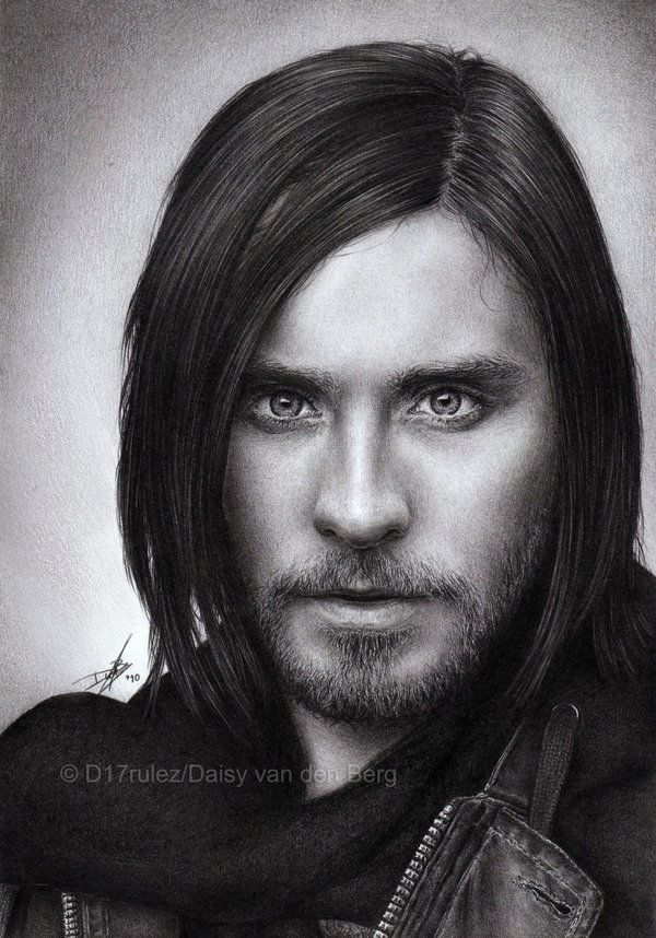 Jared Leto Pencil Drawing by D17rulez {Daisy van den Berg of the Netherlands} on deviantART ~ hyper-realistic pencil portrait